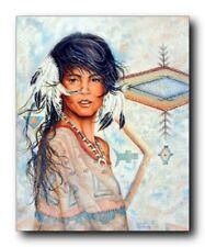 Native American Indian Maiden Wall Decor Art Print Poster (16x20)