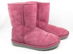 UGG Australia Classic Short Sheepskin Boots Women size 8 Pink