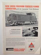 Fuller Electric London, Wheel Flange Lubricators, Vintage 1968 Advert