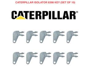 10 x CATERPILLAR CAT Isolator Deadman Master Plant Excavator Digger Dumper Keys
