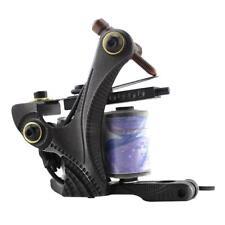 Pro Carbon Steel 10 Coil Wraps Tattoo Machine Gun for Liner Shader Black