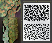 Hex Camo Airbrush Stencil Camouflage Schablonen Maskierung Gestaltung Tarnung