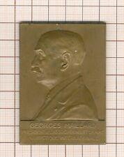 Medaille Platte Georges Maillard Par Charles Samuel 1903 Weimar- 1929 Le Cairo