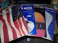 Lot of 4 Guitar Instruction Books for beginners Hal Leonard Leeds Songs Usa
