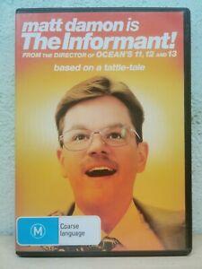 The Informant DVD Matt Damon Mystery Movie REGION 4 AUSTRALIA