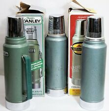 3 Vintage 1980, 73, 01 Aladdin's STANLEY Thermos #A-944C Box Excellent Condition