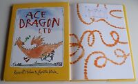 Sir Quentin Blake Signed First Editon hard Back Book Ace Dragon Ltd AFTAL & COA
