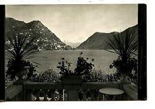 Lego di Lugano-Monte Bre-Lake Scene-Switzerland-RPPC-Vintage Real Photo Postcard