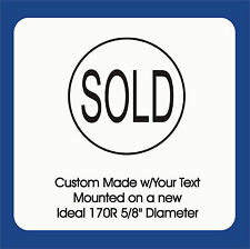 """Sold w/border, Trodat / Ideal Self Inking Stamp 170R 5/8"""" Rd, w/border 1 Color"""