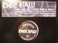 """DICE RAW + BLACK THOUGHT - THIN LINE / LAVA (12"""")  2000!!  RARE!!!  THE ROOTS!!!"""