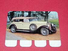 N°58 DELAGE 1929 PLAQUE METAL COOP 1964 AUTOMOBILE A TRAVERS AGES