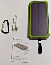 Solar Charger 15000mAh Portable Dual USB Solar Battery Charger External Green