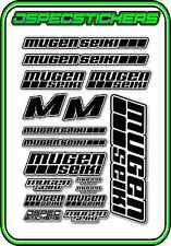 MUGEN SEIKI RC STICKER SHEET 1/8 BUGGY 1/10 CAR MTX6R MBX7R MRX6 GT ECO BLACK