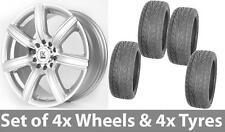 """808 18"""" 4 Alloy Wheels & Tyres Silver 5x108 Ford Mondeo Focus Connect"""