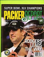April 2011 Packer Report Magazine - Aaron Rodgers Green Bay Packers