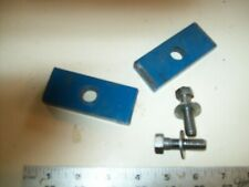 """New listing Heavy Steel Custom Made Headstock Clamps (2) From Logan 10"""" Metal Lathe"""