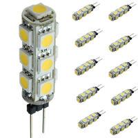 10X G4 3W 5050 SMD LED Corn Light Bulb Lamp Warm White DC 12V 3500K