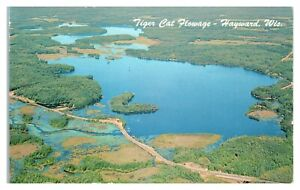 Tiger Cat Flowage, Upper and Lower Twin Lakes, WI Kateri Lodge Postcard *6E(3)17