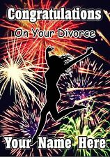 Personalised Woman Congratulations On Your Divorce Firework Greeting Card PIDV10