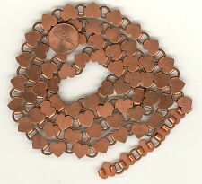 3' Vintage Copper Coated Chain Hearts & Rounds 9.5x11mm FINAL MARKDOWN #CH178