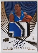 2007-08 Exquisite DWIGHT HOWARD Auto 4 Color Patch Limited Logos Card #d 50/50