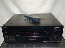 Sony STR-DB 825 Digital-RDS-Surround-Receiver in schwarz mit Fernbedienung