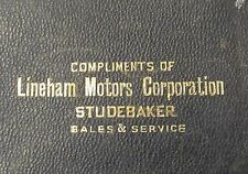 STUDEBAKER Lineham Motors Corp. Vancouver WASHINGTON large leather bill pouch