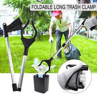 Folding Long Trash Clamp Grab PickUp Reach Grabber Tool Arm Grip Hand Stick Claw