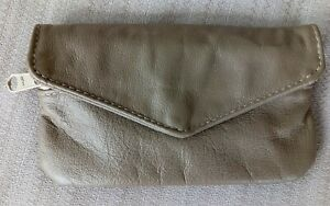 Mexican Made Gray Leather Envelope Wallet