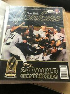 1999 New York Yankees Yearbook - Jeter, Cone, Rivera, Pettitte, Clemens