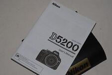 Genuine NIKON D5200 Digital SLR Camera Original USER GUIDE Instruction Manual