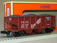 LIONEL CB&Q SCALE GLA 50 TON TWIN HOPPER 188042 81688 o gauge train load 6-81691