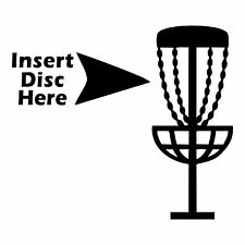 Disc Golf Vinyl Sticker Decal Insert Disc Basket