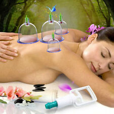 Professional Chinese Medicine Vacuum Body Cupping Massage Therapy Suction+12Cups