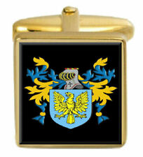 Nancarrow England Family Crest Surname Coat Of Arms Gold Cufflinks Engraved Box