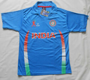 INDIA CRICKET TEAM SHIRT SIZE 20 BAGGED AND NEW WITH TAGS