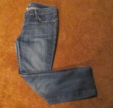 Kenneth Cole Womens Blue Mom Jeans Faded Look Straight Leg Size 29/6