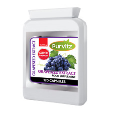 Grape Seed Extract Capsules 120 Caps Antioxidant Anti Inflammatory Anthocyanin