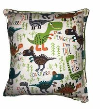 Dinosaur Pillow Soft Flannel Pillow Handmade In USA Hungry Dinosaur T-Rex Rexy