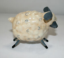 "Cute Sheep Painted Metal Figurine 3X2"" 4217-6"