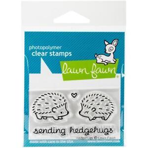 Scrapbooking Crafts LF Clear Stamp Set Sending Hedgehugs Hedge Hogs Heart Hugs