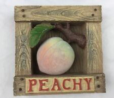 Jim Shores Garden Artisrty Peachy Wall Plaque 2001 Peach Enesco