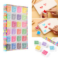24 Colors Rubber Stamps Pigment Ink Pads For Paper Wood Fabric Craft