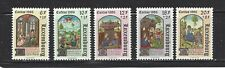 LUXEMBOURG - B357 - B361 - MNH - 1986 - CHRISTMAS - ILLUMINATED TEXTS