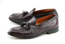 JOHNSTON MURPHY 9.5D SHELL CORDOVAN CROWN ARISTOCRAFT TASSEL LOAFER SHOES