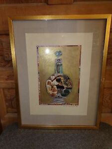 2005 Outsider Art Myth and Alchemy Collage and Painting Signed Hannah Hunter