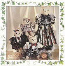 Mama Cat and Baby Kitty Cat Kitten | Stuffies | Dolls | UNCUT Sewing Pattern