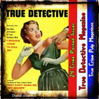 True Detective Pulp Magazine collection - True crime, murder and mystery stories