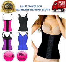 AU WOMEN Plus Size LATEX WAIST TRAINER Singlet Vest Cincher Shapewear Corset
