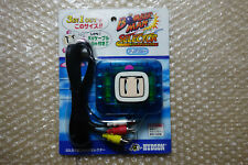 New Bomberman AV Selector Clear Blue Saturn/Super Famicom/N64 Japan